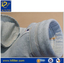 Polyester stripe anti-static needle felt with water and oil proof dust filter bag
